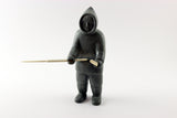 Inuit Soapstone Hunter with Knife and Spear