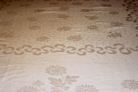Irish Damask Linen Tablecloth