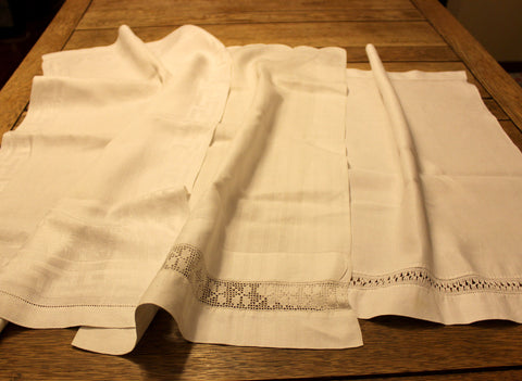 Irish Linen and Lace Tea Towels