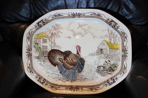 Barnyard King Turkey Platter Johnson Brothers