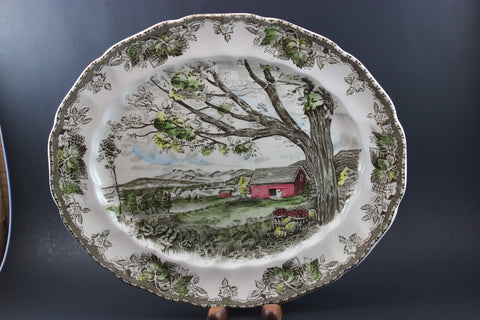 Johnson Brothers, The Friendly Village, Serving Platter-Harvest Time