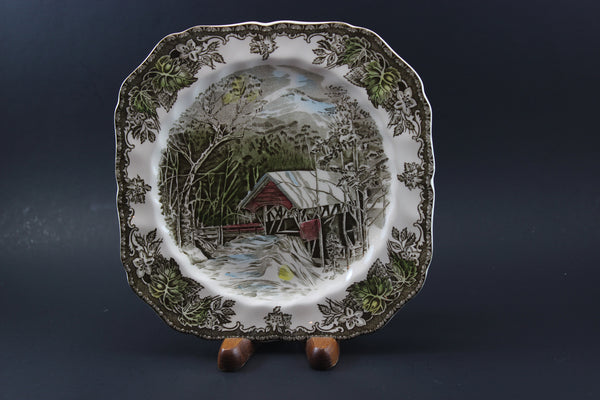 Johnson Brothers-Square Salad Plate-The Covered Bridge