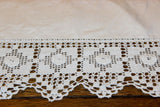 Natural Linen Lace Luncheon Cloth