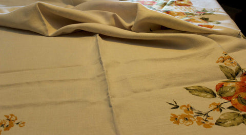 Linen Tablecloth, Fall Apples and Pears