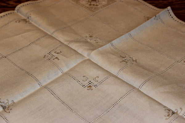 Natural Linen Table Topper & Tea Tray Cloth