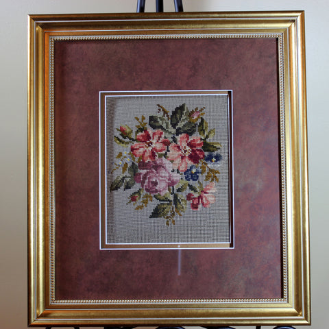 Floral Framed Needlepoint