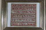 Needlepoint Sampler, Jane Clow