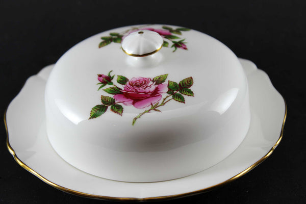Northumbria Carleton Rose Covered Butter Dish