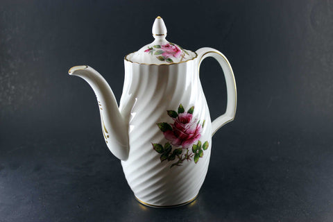 Northumbria Carleton Rose-Coffee Pot, Cream & Sugar