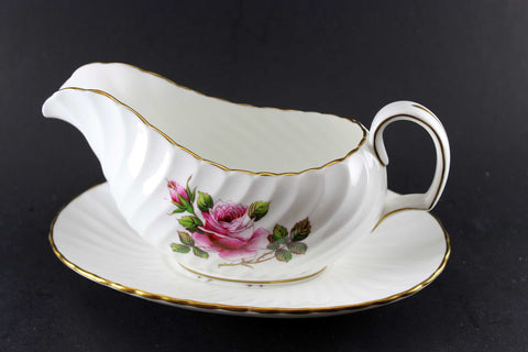 Northumbria Carleton Rose Gravy Boat and Under Plate
