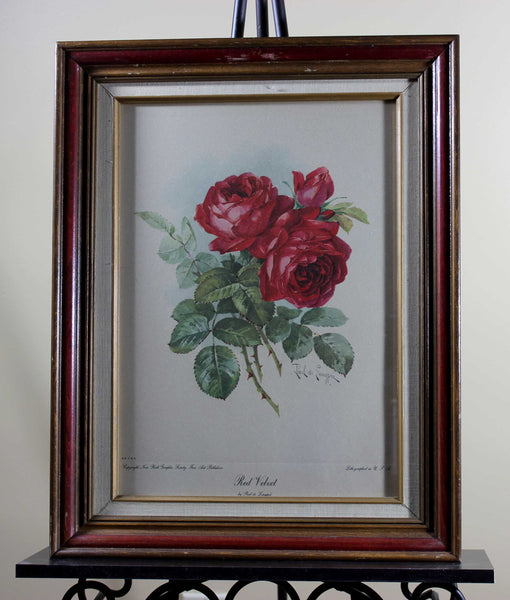 Paul de Longpre, Lithograph, Red Velvet