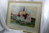 Peggy's Cove Church-Watercolour