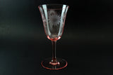 Pink Depression Glass Water Goblet (2) Jubilee