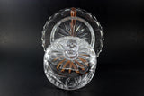 Pinwheel Crystal Large Covered Butter Dish