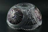 Pinwheel Crystal Large Bowl with Burgundy Accents