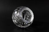 Pinwheel Crystal Round Rose Bowl-like Ashtray