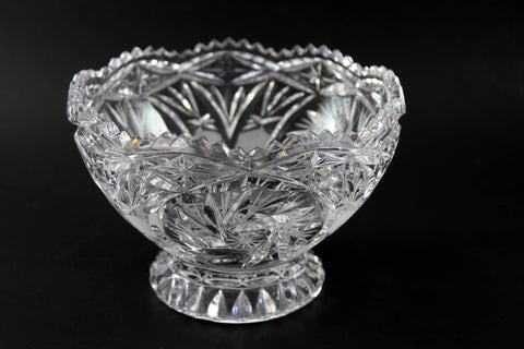 Czech Bohemia Pinwheel Medium Bowl with Base