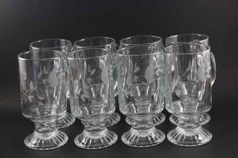 Princess House Crystal Irish Coffee Mugs (8)