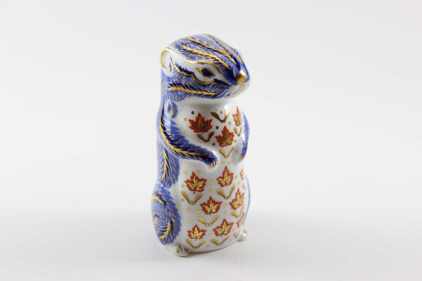 Royal Crown Derby Imari Style Chipmunk Paperweight