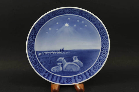 Royal Copenhagen, Christmas Plate, 1918