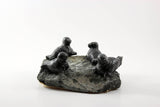 Inuit Soapstone Sculpture-Four Seals on Rock