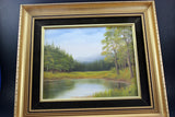 T. Jahner oil on board painting, original, signed