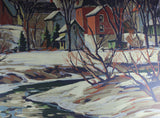 Tom Roberts, Village in Winter (Silkscreen)