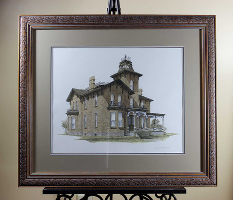 Walter Campbell, Signed Print, Bigelo House