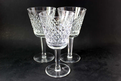 Waterford Crystal, Vintage Alana, Claret Wine Glasses