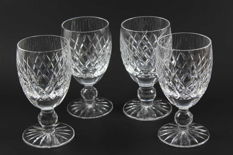 Waterford Crystal White Wine, Boyne Pattern (Cut Foot)