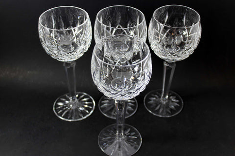 Waterford Crystal, Lismore, Vintage Hock Glasses