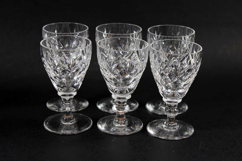 Webb Corbett Crystal, Georgian Pattern, Liqueur Glasses