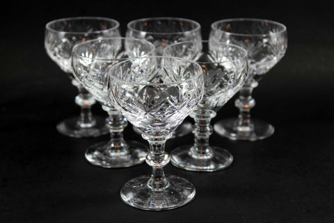 Webb Corbett Crystal, Port Glasses, Georgian Pattern