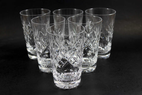Webb Corbett Crystal, Georgian Pattern, Juice Glasses