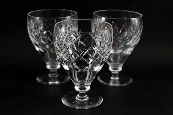Webb Corbett Crystal, Georgian Pattern, Water Goblets