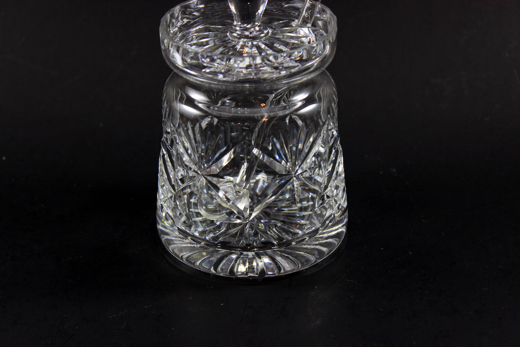 Webb Corbett Crystal Chantilly Jam Jar With Spoon 2