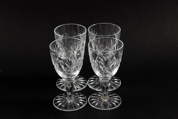Webb Corbett Crystal, Liqueur Glasses, Chantilly