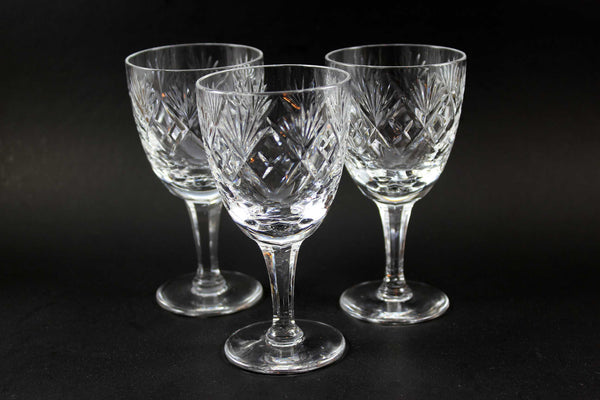 Webb Corbett Crystal Georgian Port Glasses