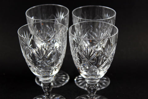 Webb Corbett Crystal, Red Wine Glasses, Chantilly