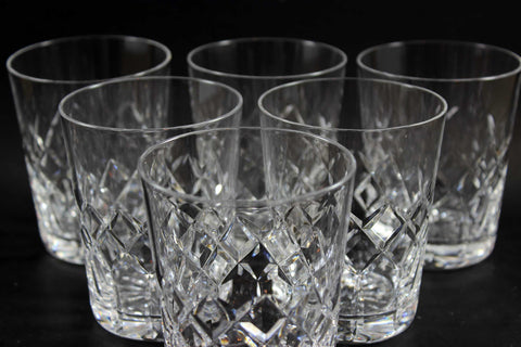 Webb Corbett, Heavy Crystal Rocks Glasses