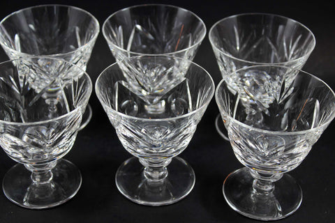 Webb Corbett Crystal, Sorbet or Dessert Glasses