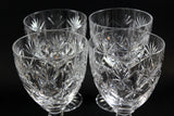 Webb Corbett Crystal, Water Goblets, Chantilly