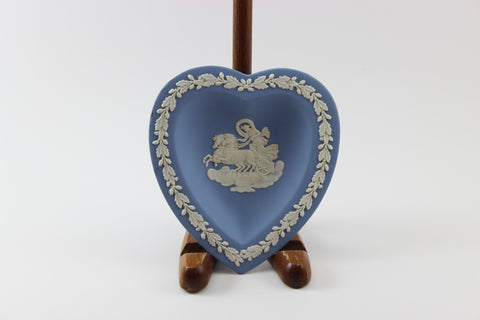 Wedgwood Jasperware Blue and White Heart Shaped Trinket Dish