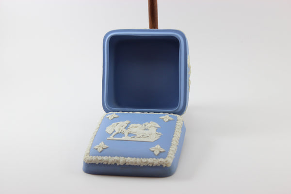 Wedgwood Jasperware Blue and White Trinket Box