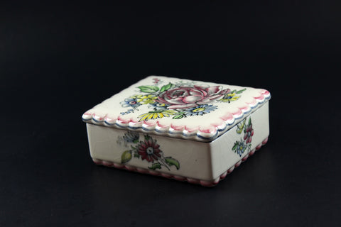 Wedgwood & Co. Ltd.-Vintage Porcelain Trinket Box