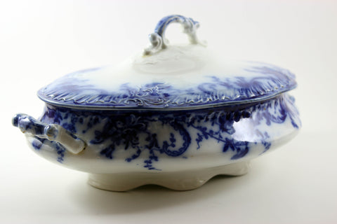 Wedgwood Antique Blue and White Covered Serving Dish