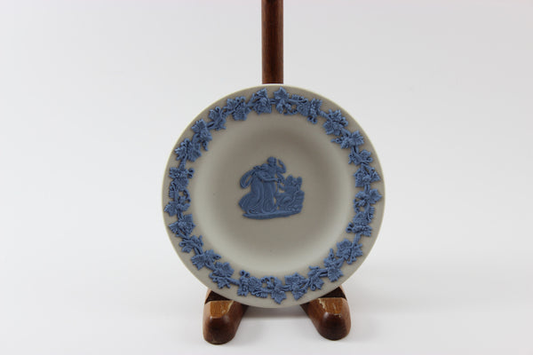 Wedgwood Jasperware White and Blue Pin Dish