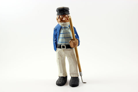 Hand Carved and Painted Quebec Wood Figurine