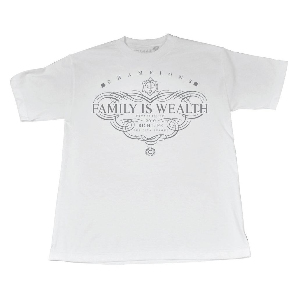 Family Is Wealth (CliBLK/White Tee)