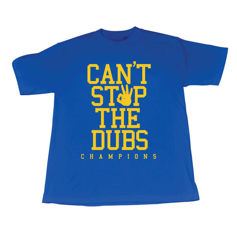 Can't Stop the Dubs (Yellow/Blue Tee)